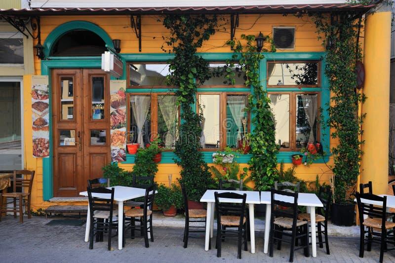 Typische Herberg in Griekenland royalty-vrije stock fotografie