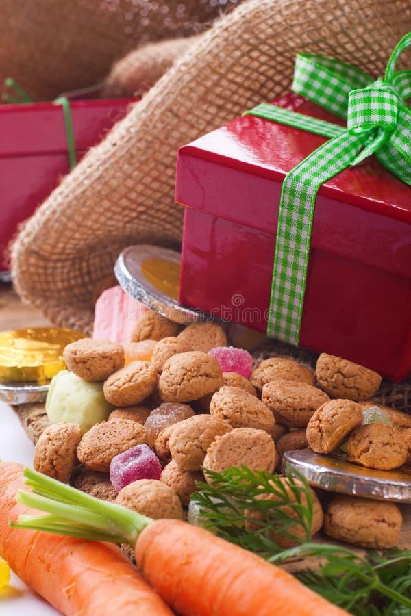 Typische holländische Feier: Sinterklaas lizenzfreie stockfotografie