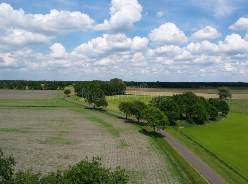 Typische holländische Landschaft lizenzfreies stockfoto