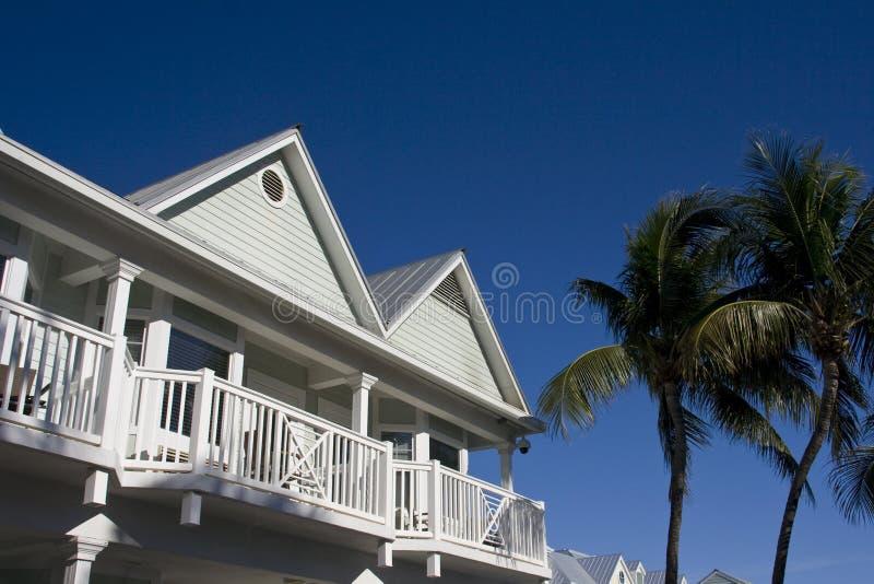 Typische huizen Key West stock foto's