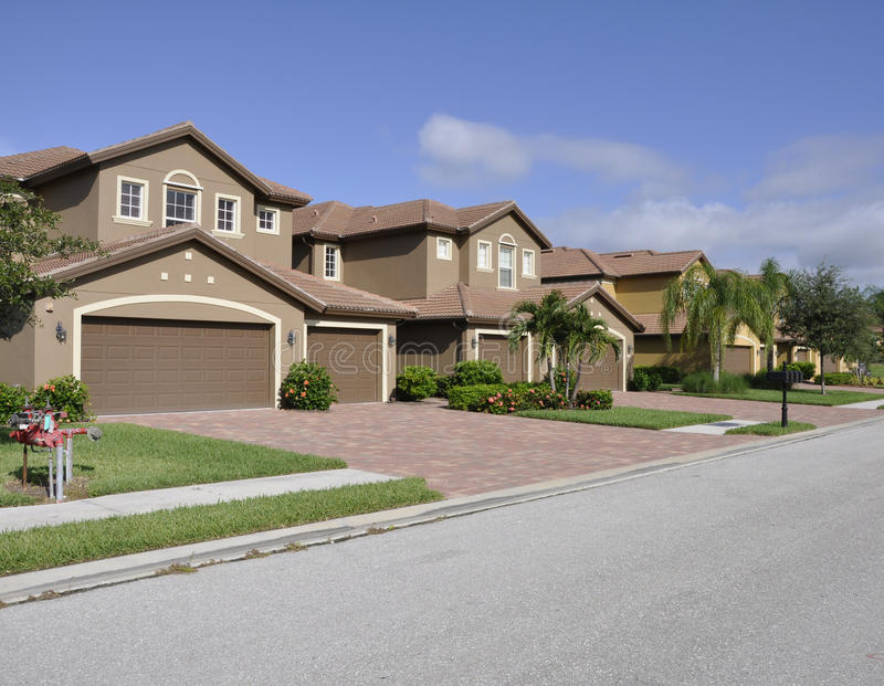 Typische Huizen In Napels Florida Stock Foto