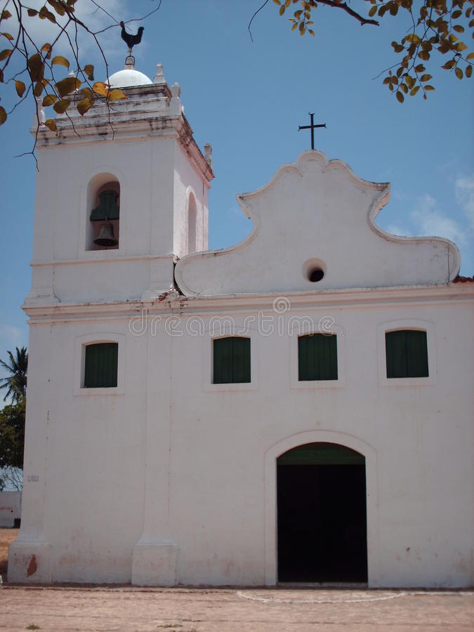 Typische katholische Kirche, Brasilien stockfotografie