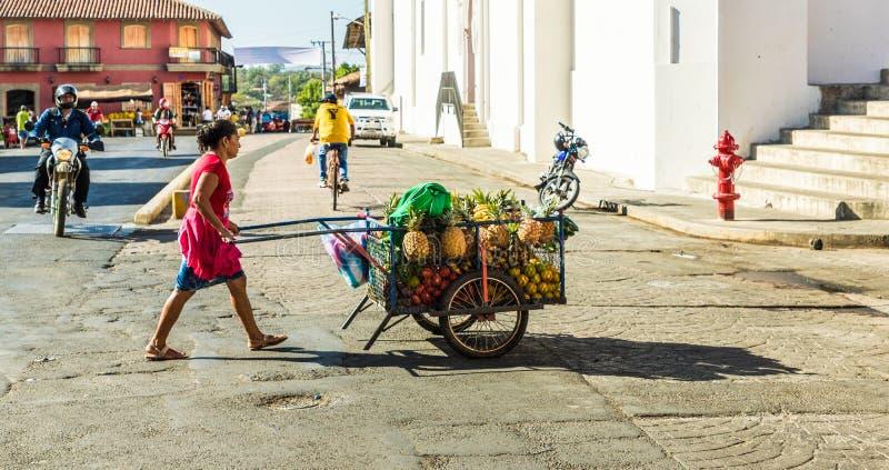 Typische mening in leon Nicaragua stock afbeelding
