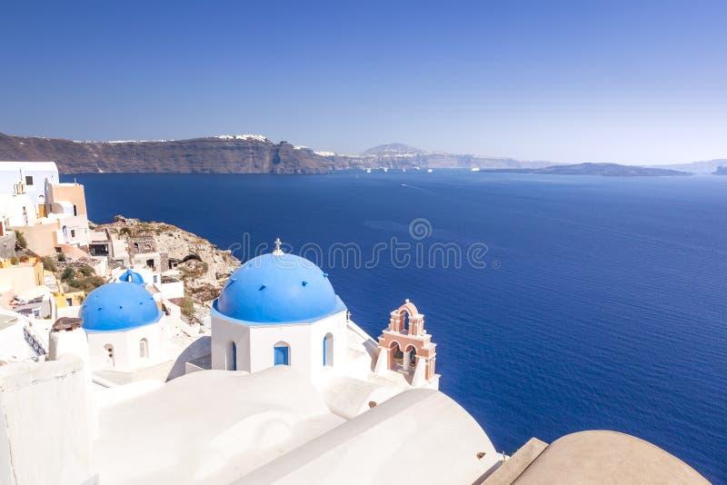 Typische mening in Oia Santorini Griekenland royalty-vrije stock foto's