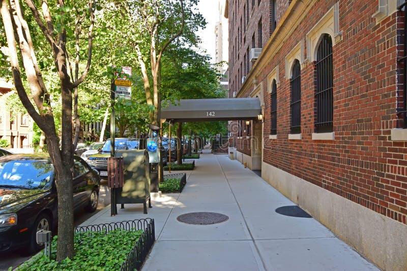 Typische Mening van Manhattan Uit het stadscentrum aan het Oosten van Central Park royalty-vrije stock afbeelding