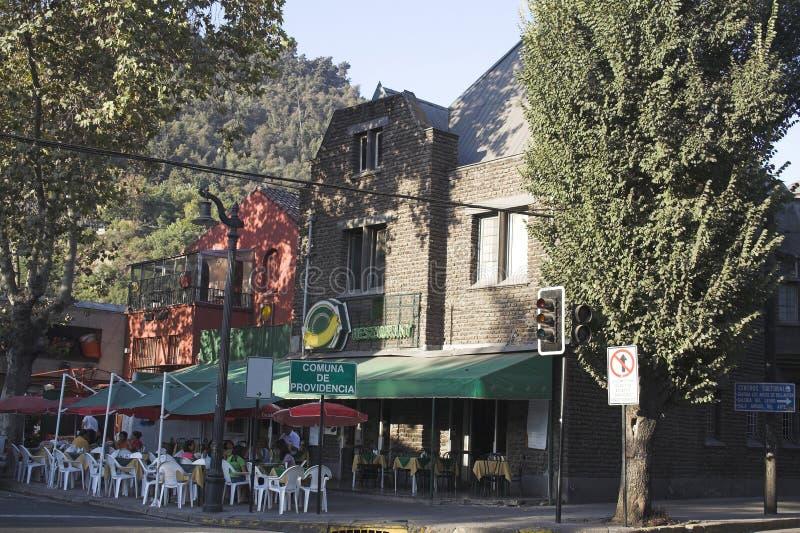 Typische Nachbarschaft Santiago tun Chile stockbilder