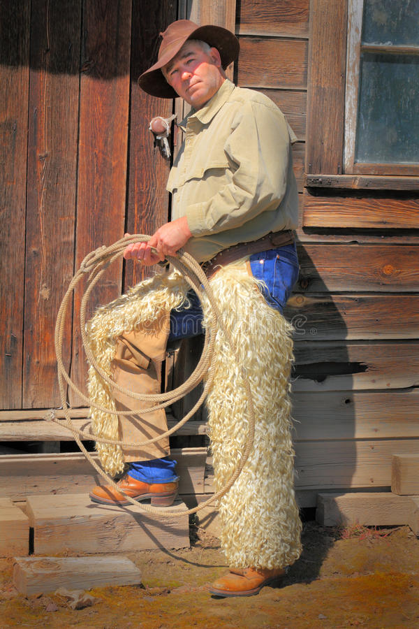 Typische Oude Cowboy royalty-vrije stock foto's