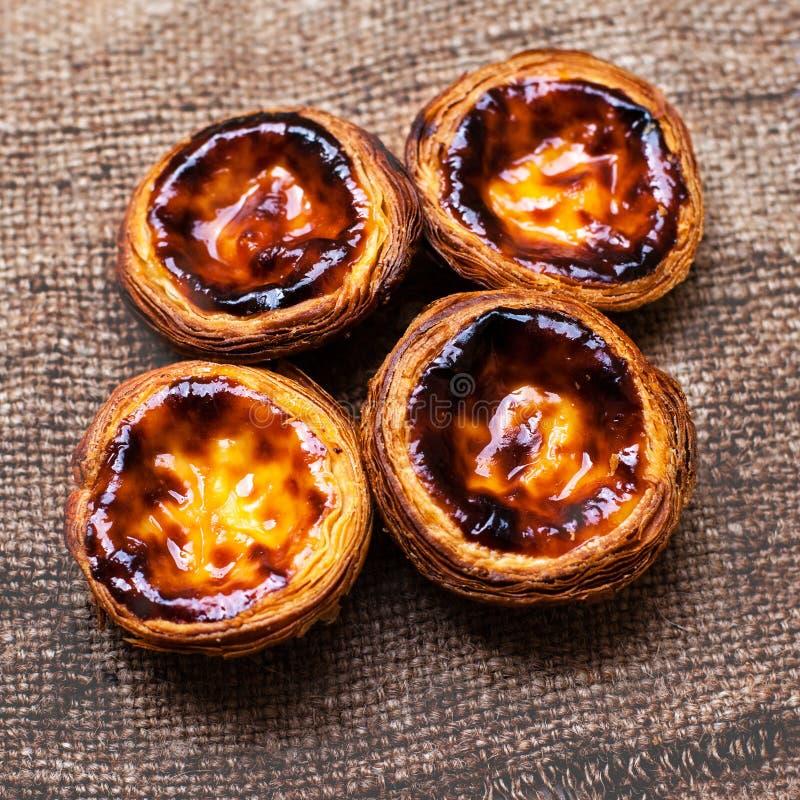 Typische Portugese cookies pasteis DE nata royalty-vrije stock foto's