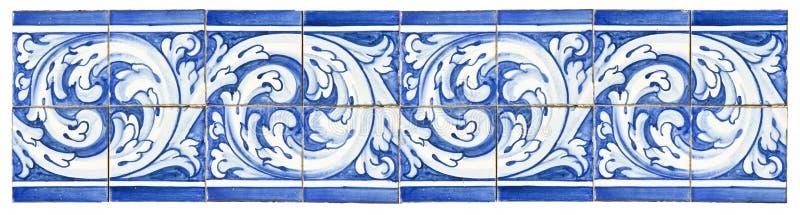 Typische Portugese decoratie met gekleurde keramische tegels Het ` s stock afbeeldingen