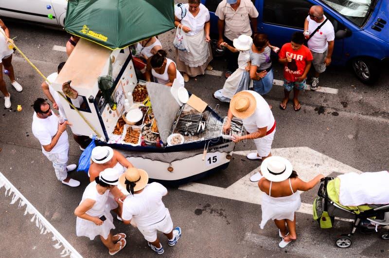 Typische Romeria-Fiesta-Partei lizenzfreie stockfotos