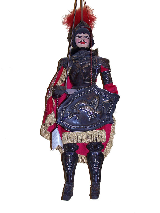 Typische sizilianische Marionette lizenzfreies stockfoto