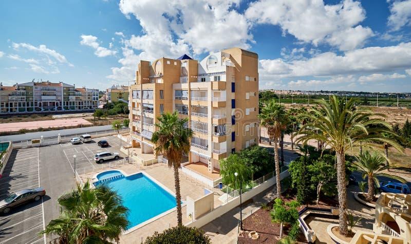 Typische Spaanse urbanisatie stock fotografie
