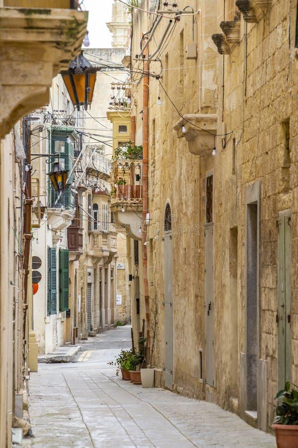 Typische Stra?e in Rabat, Malta, Detail stockfoto