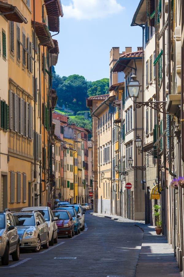 Typische straat in de stad van Florence royalty-vrije stock foto
