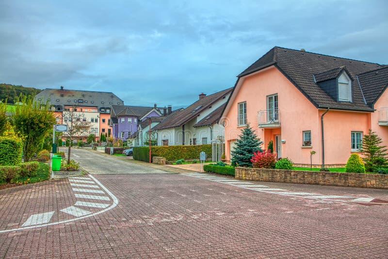 Typische straat in Luxemburg royalty-vrije stock foto
