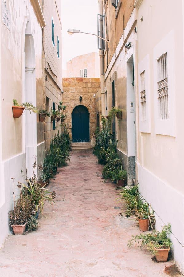 Typische straatmening in Malta royalty-vrije stock foto