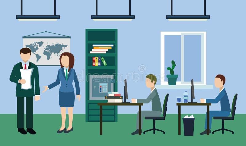 Typische werkdag in het bureau stock afbeeldingen