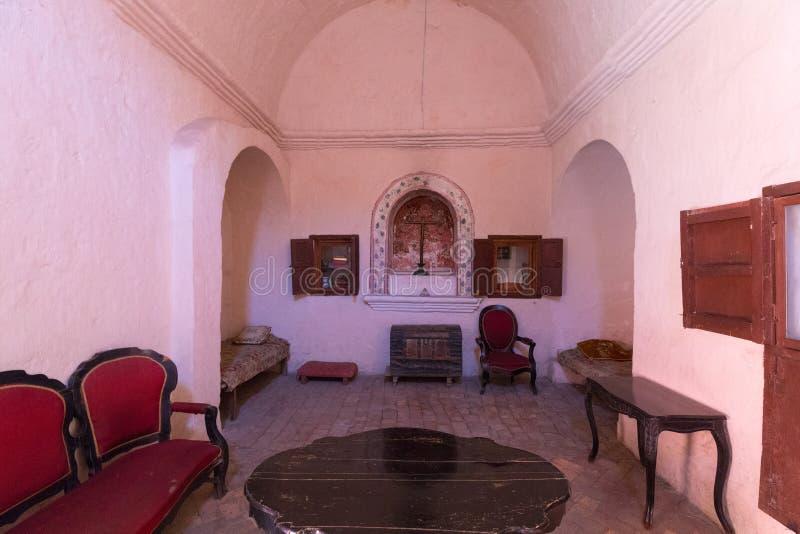 Typische woning van het klooster Arequipa van nonnensanta catalina royalty-vrije stock foto's