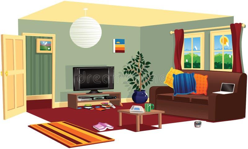 Typische woonkamerscène vector illustratie