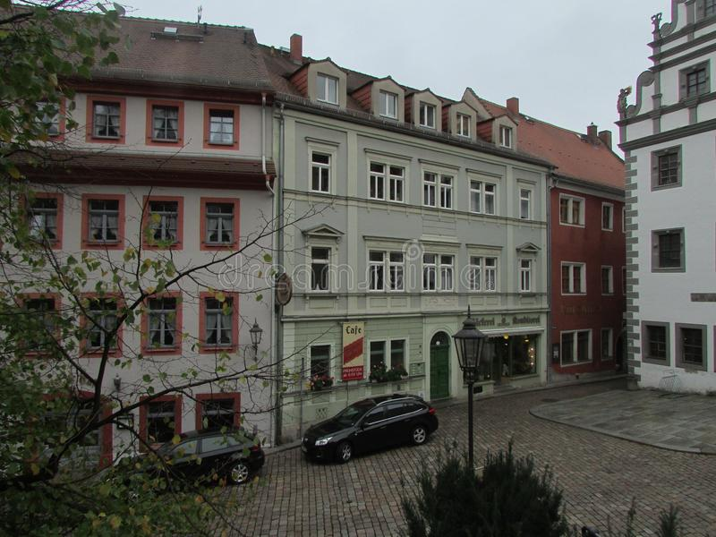 Typischer deutscher Hof Maurer, Deutschland stockbild
