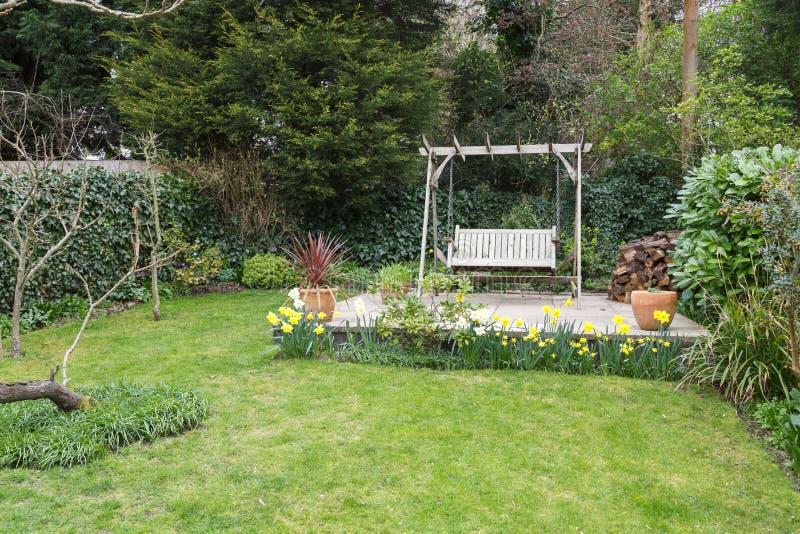 Typischer englischer Garten stockfoto