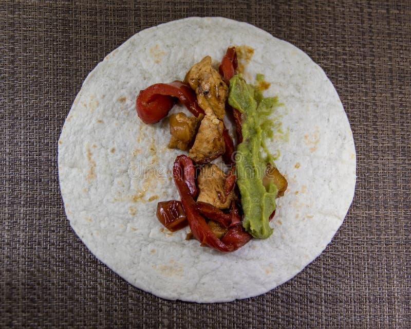 Typischer Fajita warmes mexikanisches Gericht stockfoto