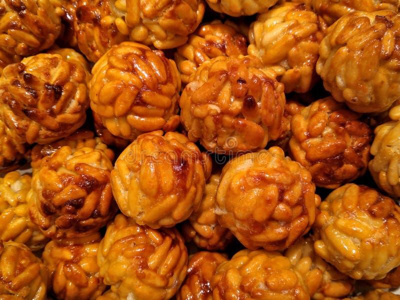 Typischer spanischer Bonbon des Handwerkers für Halloween-panellets stockbild