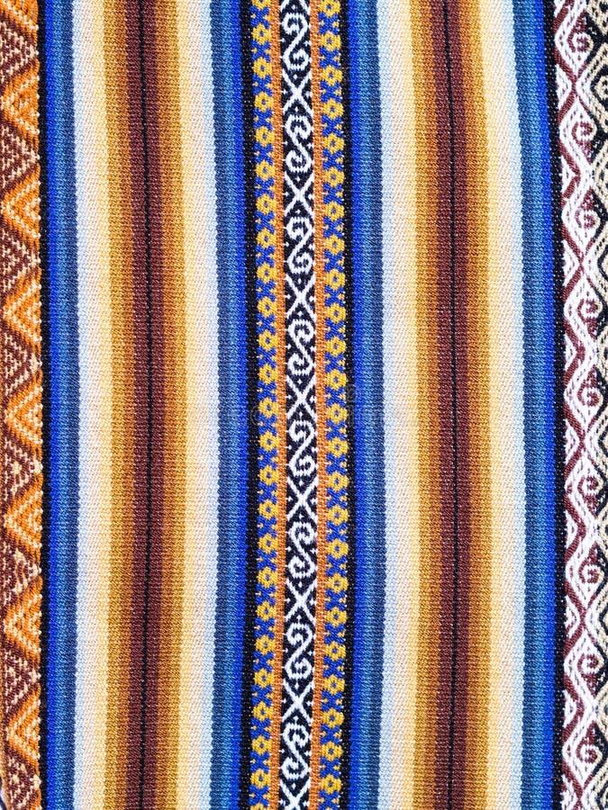 Typisches äthiopisches hand-gesponnenes buntes Gewebe lizenzfreie stockbilder