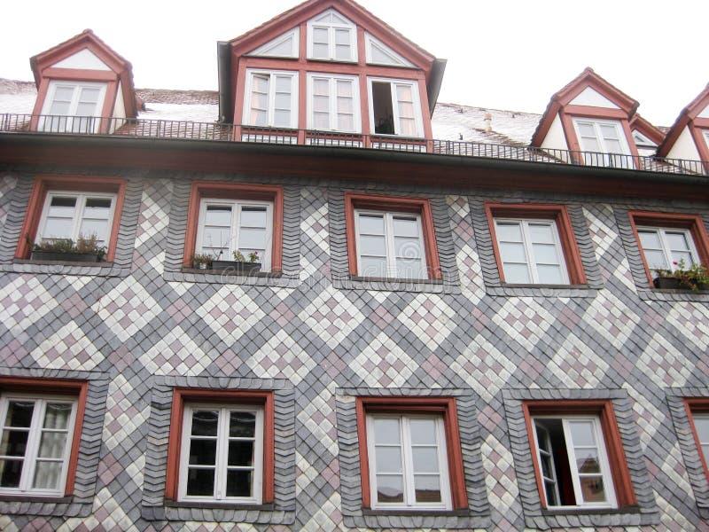 Typisches bayerisches Haus, Furth, Deutschland lizenzfreie stockfotografie