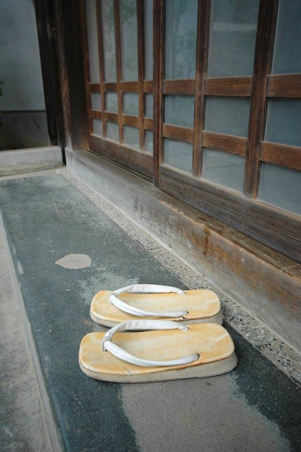 Typisches japanisches Haus stockfotografie