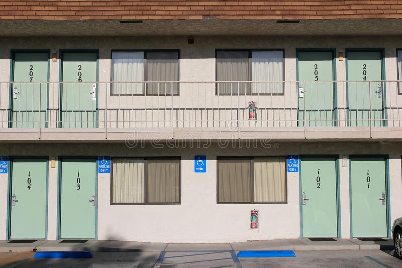 Typisches Motel, USA stockfoto
