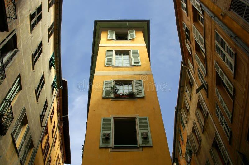Typisches und eigenartiges Nizza Haus - - Frankreich stockfoto
