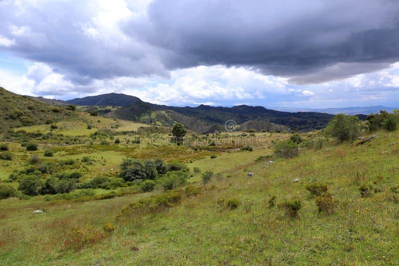 Typisk Colombia landskap arkivfoton