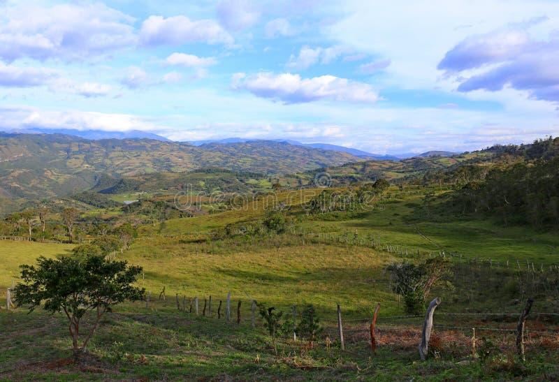 Typisk Colombia landskap fotografering för bildbyråer