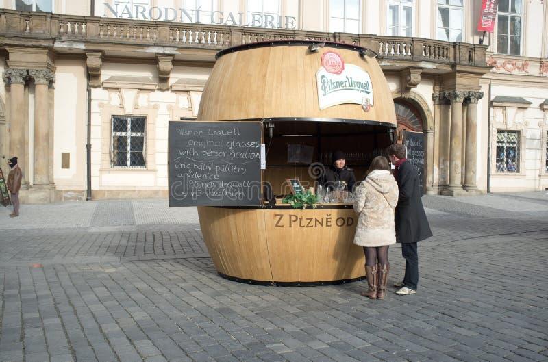 Gastronomiskt stativ i Prague fotografering för bildbyråer