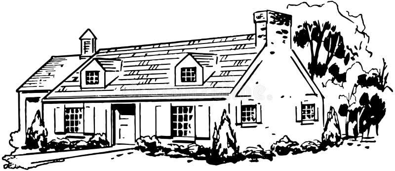 typisk hus royaltyfri illustrationer