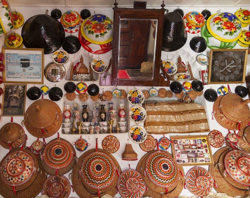 Typisk inre av det traditionella huset Harar ethiopia royaltyfri foto