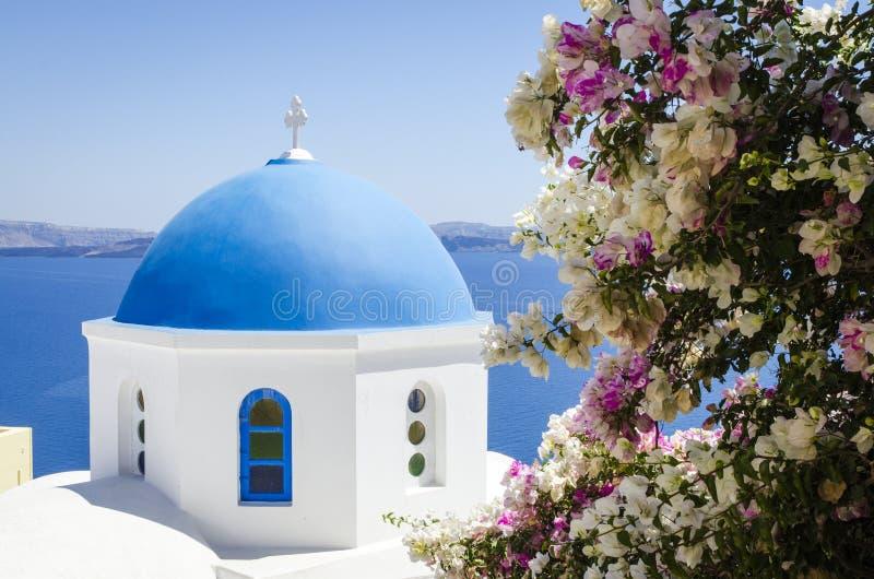 Typisk kyrka av Cyclades royaltyfri foto