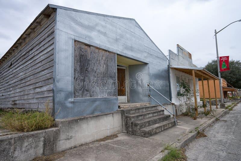 Typisk liten stadarkitektur i Texas royaltyfria foton