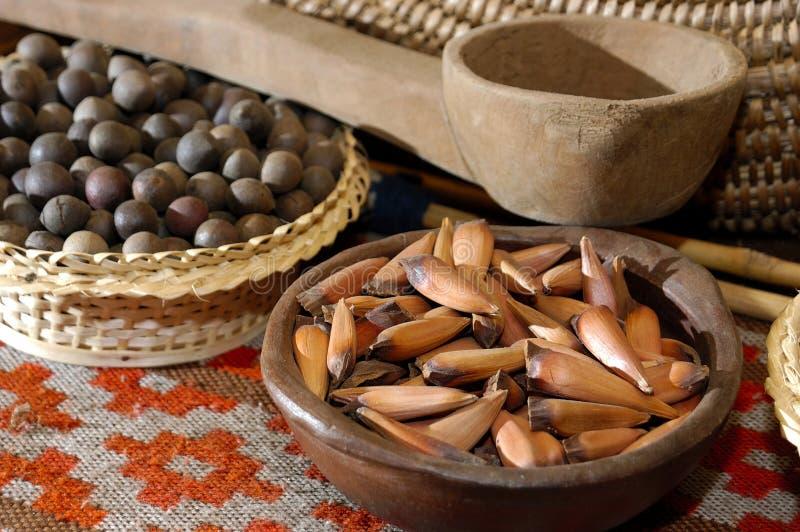 Typisk mat Mapuche, Chile royaltyfria bilder