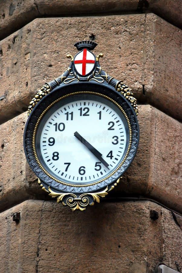 Typisk Ta Tid På Genoa Royaltyfria Bilder