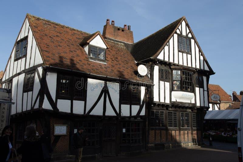 Typisk Tudor stilhus från York UK royaltyfri foto