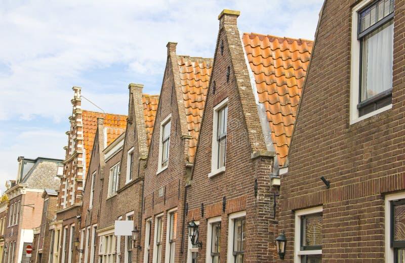 Typiska holländska hus royaltyfria foton