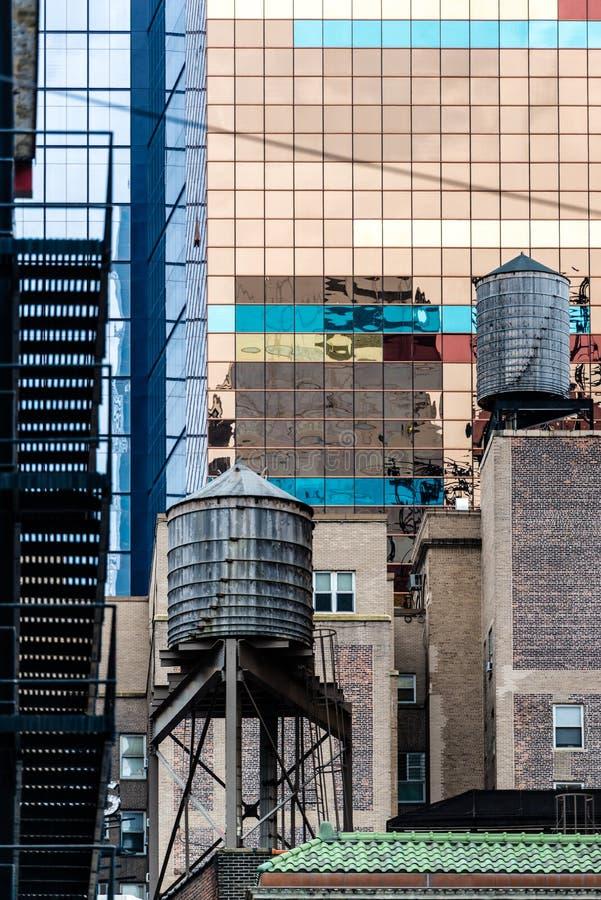 Typiska New York fasader arkivbild
