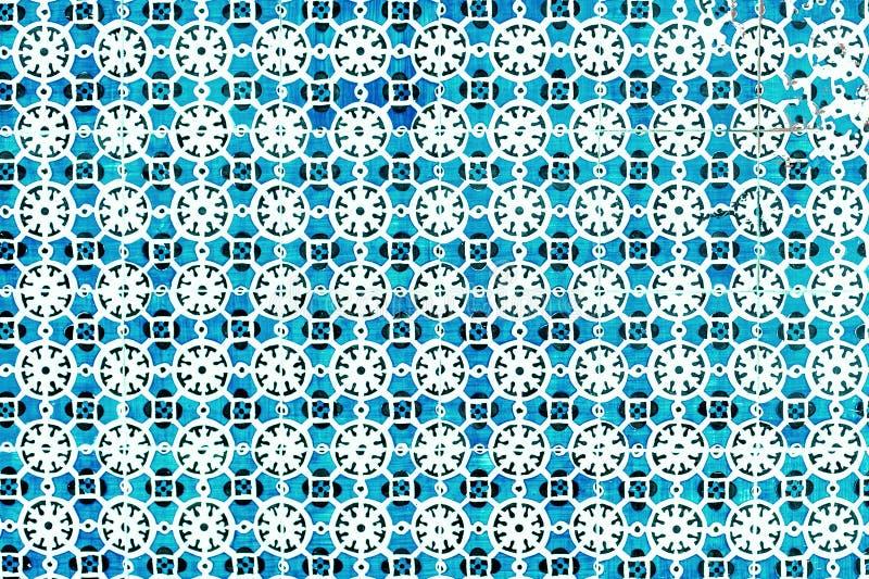Typiska portugistegelplattor, blåa Azulejo, spanjor, italienare och mo arkivfoton