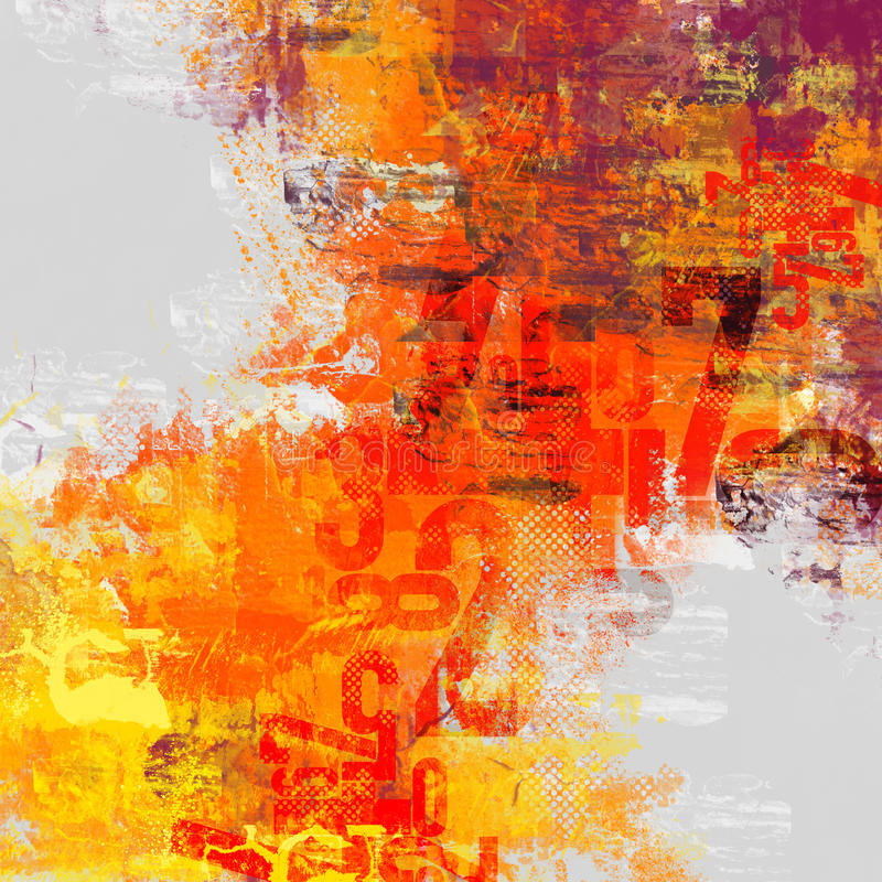 Typo abstract composition royalty free illustration