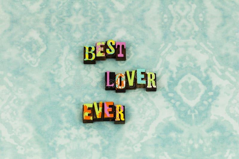 Typografi för förälskelse för vänkvinna bästa romansk arkivfoton