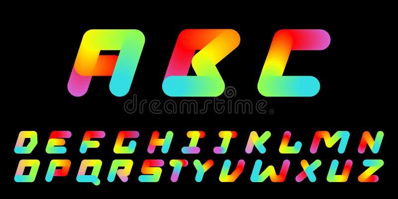Typografi för 80 stil för stilsort fastställd retro - symboler kan användas för illustrationen för plakataffisch- eller banervekt royaltyfri illustrationer