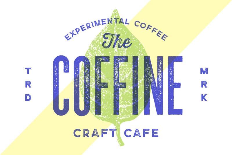Typografia rocznika logo Rocznik etykietka, logo dla kawiarni ilustracja wektor