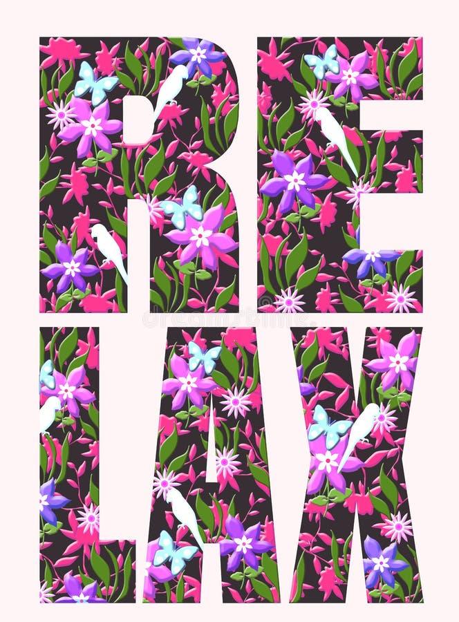 Typografia slogan z kwiat ilustracj? ilustracji